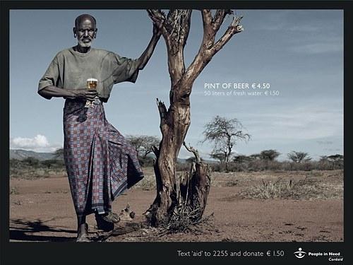 1. Пинта пива - 4,5 евро, 50 литров пресной воды - 1,50 евро. По материалам : bigpicture.ru/?p=362816#more-362816